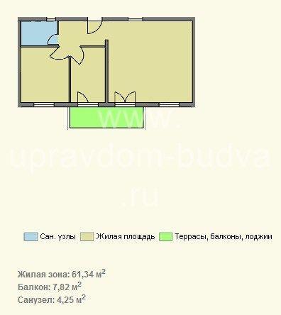 Объект-19257. 3-х комнатная квартира в комплексе с бассейном.